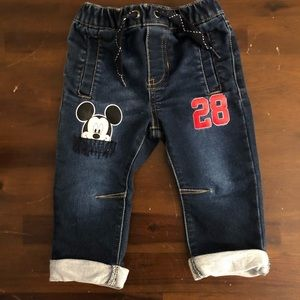 Disney Mickey Mouse jeans 6-9 months